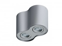 Lampa techniczna Bross 2 Aluminium