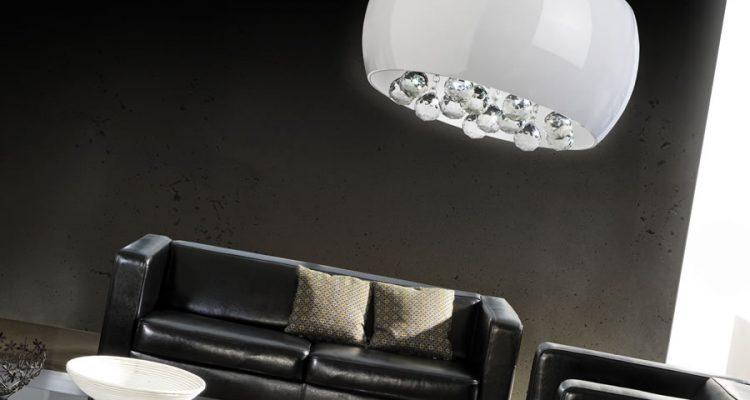 Lampy do salonu wiszące - przytulne wnętrze