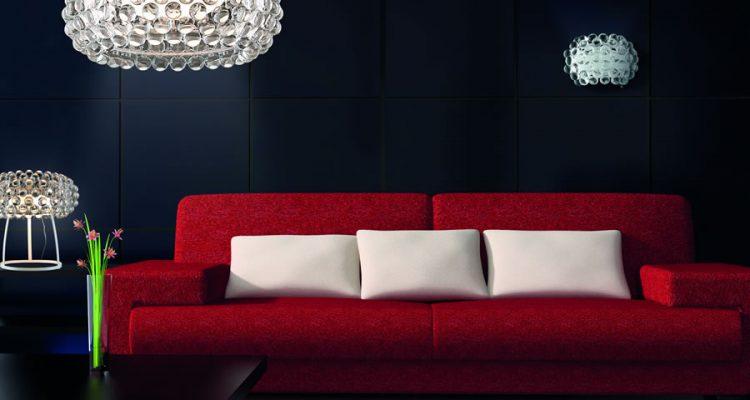 oświetlenie sufitowe w salonie