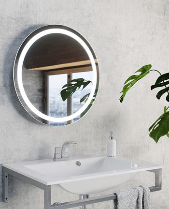 różne rodzaje opraw do lustra łazienkowego