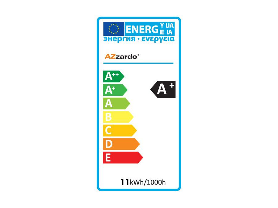 Klasa energetyczna A+ 11kWh/1000h